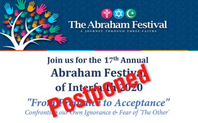 The 17th Annual Abraham Festival – April 17-19, 2020